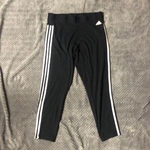 NWOT Adidas 3 Stripes Leggings Black - Sz XL